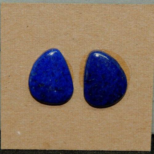 Lapis Lazuli Cabochons 16.5x7mm with 3.5mm dome set of 2 (16938)