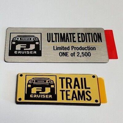 Toyota FJ Cruiser Trail Teams Ultimate Edition Emblems Badge Set - OEM NEW!