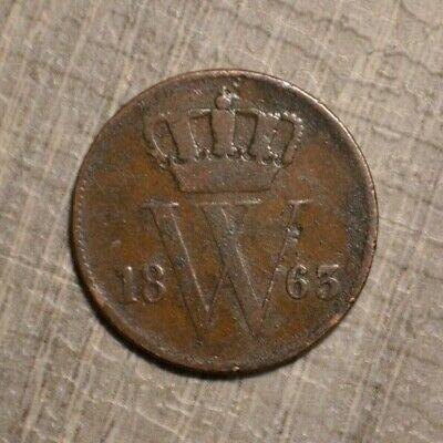 Netherlands 1 cent 1863