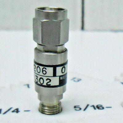 9206-0 Weinschel Fixed Attenuator Sma 50 Ohms 2 Watt 0-12.4 Ghz New Old Stock