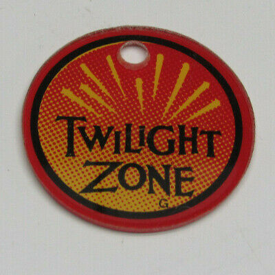 The Twilight Zone Pinball Machine Key Chain With Link Bally 1993 Original NOS