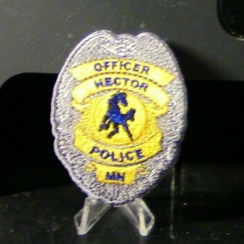 Company Closed, Patch Retired: Hector MN Police Officer Badge Patch