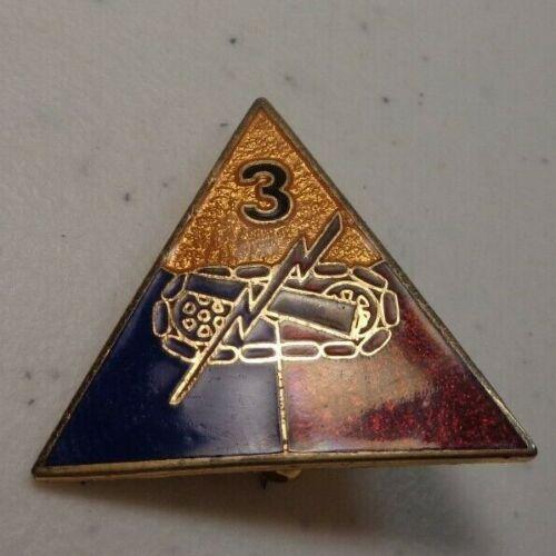 Cold War Era 1960s 3rd Armored Division Insignia Pin C.P. Co. NYC Charles Polk 2