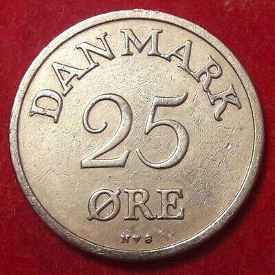 1951 DENMARK 25 ORE - Excellent Vintage Coin Denmark Bin #3 Danemark