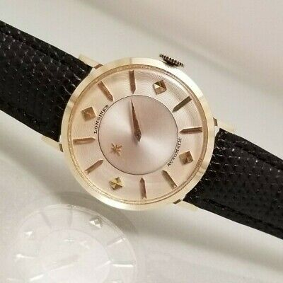 LONGINES VINTAGE MYSTERY DIAL 10KY.G.F. AUTOMATIC MENS  WATCH 1956 VERY CLEAN