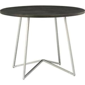 Round CB2 hard wood dining table