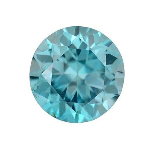 GIA Certified NATURAL Blue Zircon Round Cut 5.47 CT