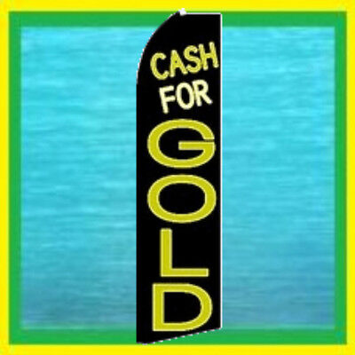 Cash For Gold Advertising Feather Swooper Banner Flag