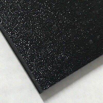 Abs Black Plastic Sheet 14 X 24 X 48 Textured 1 Side Vacuum Forming