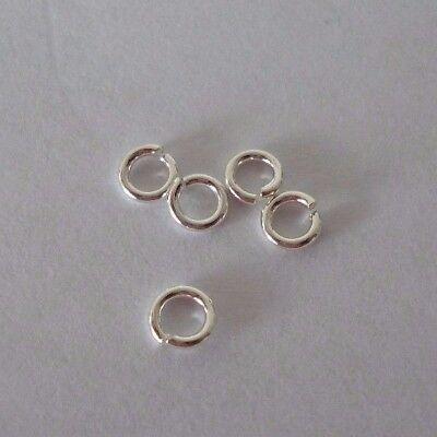 15 Stück 925er Silber Biegeringe Binderinge Kettenglieder in 5mm Schmuck