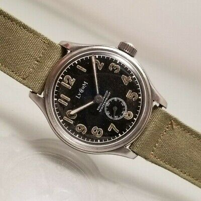 LYCEUM VINTAGE MILITARY 17J CAL1171  BUMPER AUTOMATIC STAINLESS 1940s