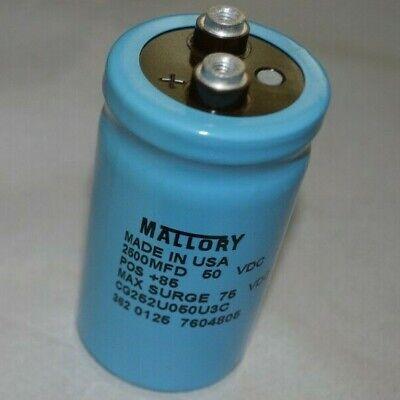 Mallory Cg252u050u3c 2500 Mfd 50 Vdc Capacitor