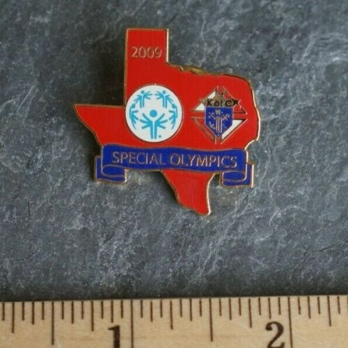 Vintage Pin - KofC Texas Knights of Columbus - Gold Tone Special Olympics 2009