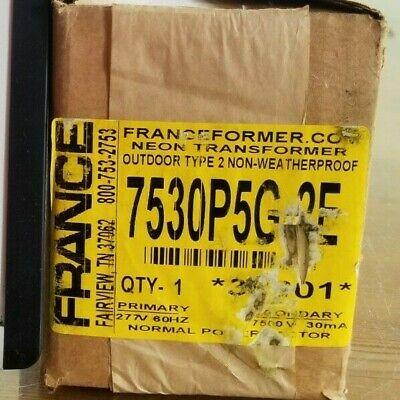 New Franceformer 7530p5g-2e 7530 P5gg-2e Neon Transformer 277v Primary