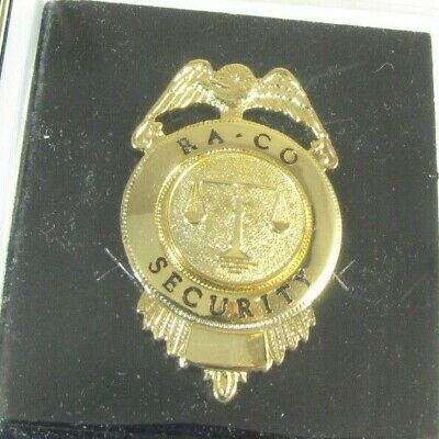 Obsolete New Nos Cadet Gold Security Officer Badge Shield Ra Co 1g1