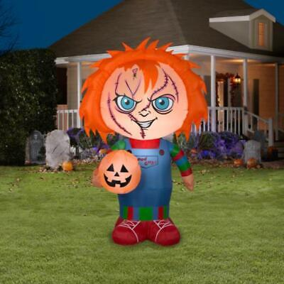 5 Ft Chucky Doll Childs Play Halloween Airblown Inflatable Haunted House Gemmy