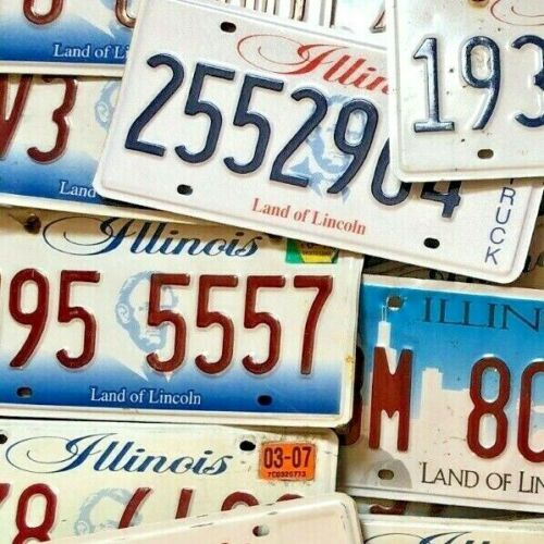 10 Illinois License Plates - Craft Condition