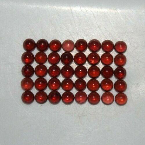Almandine Garnet 3mm to 12mm Round Cabochon Loose Gemstones w/ Multi-Qty Option