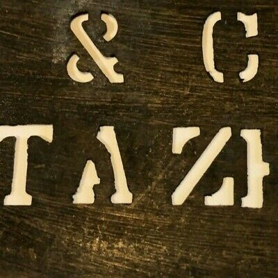 Vintage 1890's - 1910's Cardboard Produce / Grocer Crate Stencil - Tazewell, VA