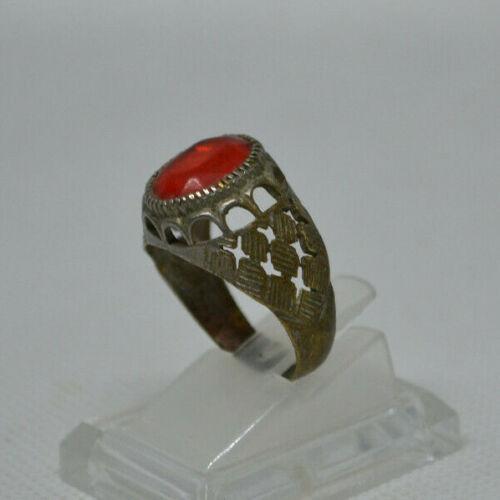 Very Rare Ancient Viking Ring Bronze Openwork Artifact Authentic Museum Quality
