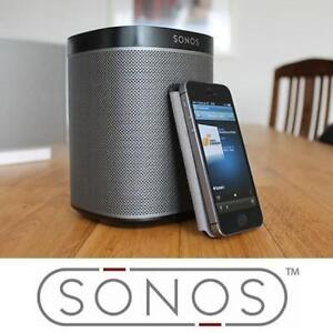 NEW  SONOS PLAY 1 WIRELESS SPEAKER PLAY1US1BLK 189887855 BLACK COMPACT SMART MUSIC