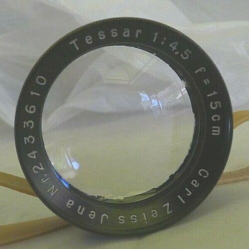 Carl Zeiss Jena Tessar 1:45 F=15cm Large Format Lens - TESTED