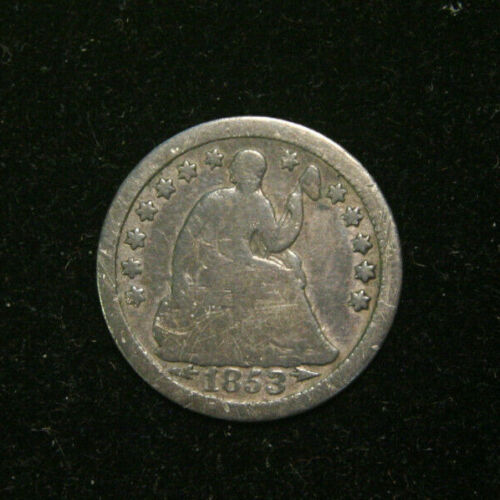 1853-O Seated Half Dime, AG About Good , US Coin Free Shipping