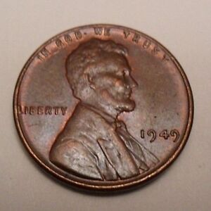1949 P Lincoln Wheat Cent / Penny Coin   *FINE OR BETTER*  **FREE SHIPPING**