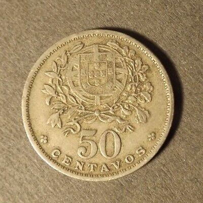 PORTUGAL 50 CENTAVO COIN DATED 1955 NICE COIN
