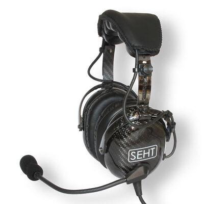 SEHT SH 40-10 Carbon Fibre Pilots Aviation Headset (5YR WARRANTY) tweedehands  verschepen naar Netherlands