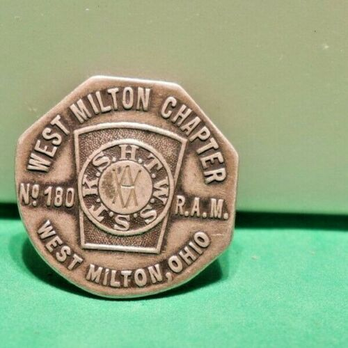 Masonic Token: West Milton, Ohio, Chapter #180, 26mm Sterling Silver