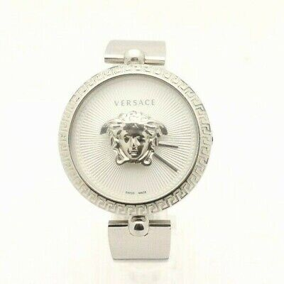 Versace Women's Palazzo Empire Bracelet Watch 39mm Silver Color Size 7in