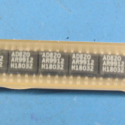 2pcs Oem Analog Devices Ad820 Rrio Single Supply Op-amp Soic-8