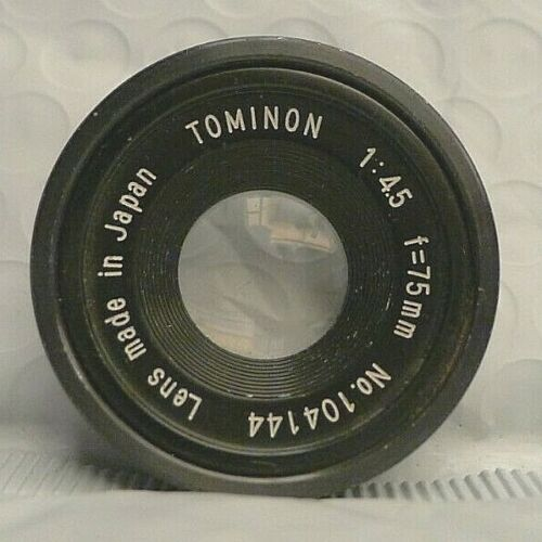 Tominon 1:4.5 f=75mm Lens for Polaroid MP4 - Lens Only - Made in Japan 2
