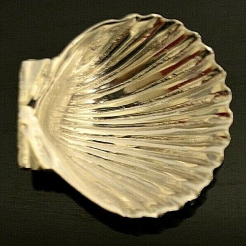 Miniature Sterling Silver Shell Dish Dollhouse 1:12 Artist William B Meyer ?