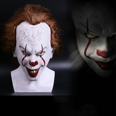 2017 Stephen Kings It Mask Pennywise Clown Mask Scary Joker Costume Halloween