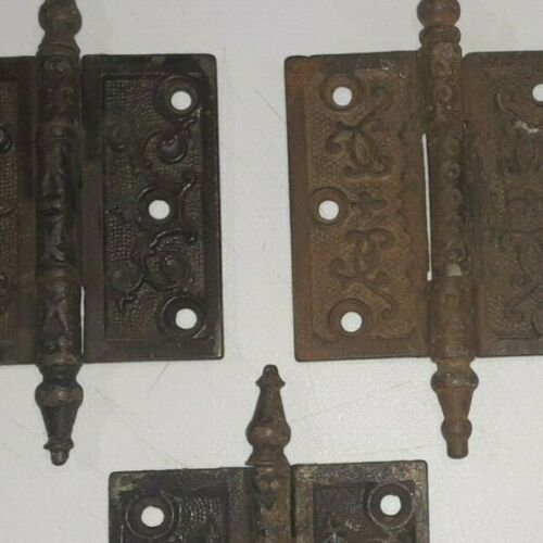 """Lot 4 VICTORIAN Hinges Steeple-Tip  -----  3 1/2"""" x 3"""" -------        (lot #1)"""