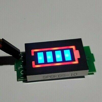 4.2v Lithium-ion Battery Capacity Tester Indicator Led Monitor Blue Display 1s