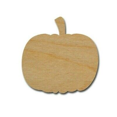 Pumpkin Shape Unfinished Wood craft Cut Outs Variety of Sizes Made In USA  (Pumpkin Craft)