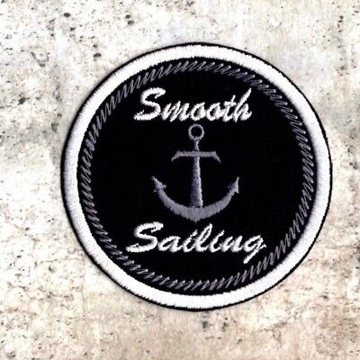 Smooth sailing patch sailing crest Iron to Sew On Nautical Badge AP (Smooth On Canada)