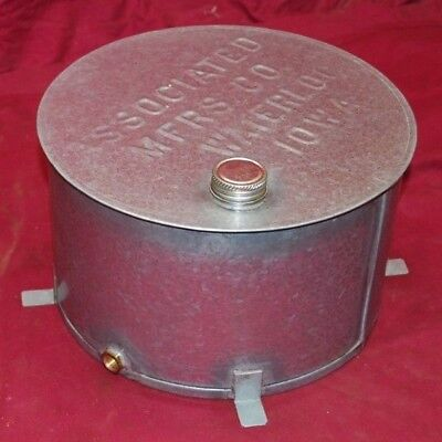 3 - 4 Hp Stamped Associated Gas Engine Motor Hit Miss Throttle Fuel Gas Tank