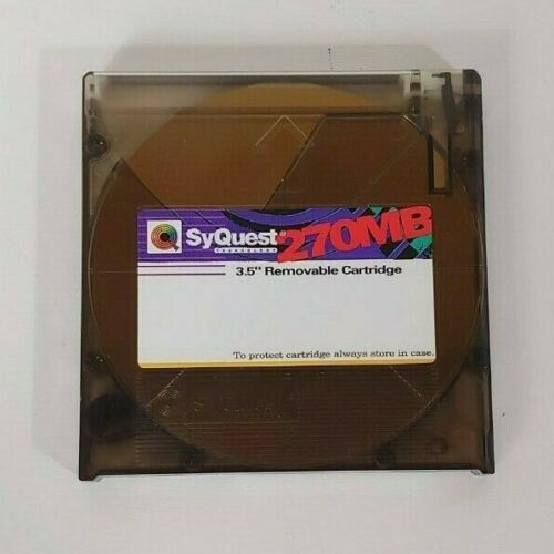 """SyQuest 270MB 3.5"""" Removable Hard Disk Cartridge 1992"""