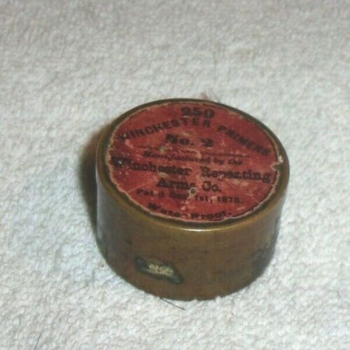 Old Winchester Primers No 2 Manufactured By Winchester Repeating Arms & Co 1878