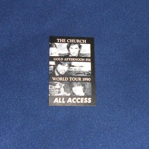 The Church Good Afternoon Fix World Tour 1990 Backstage Pass