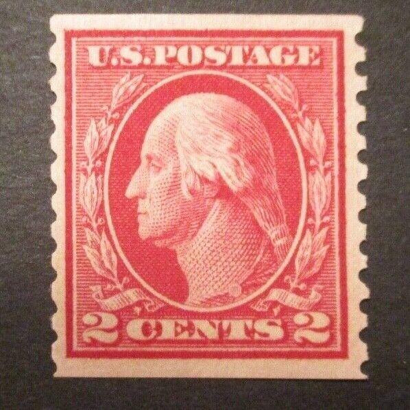 1914 US S 444 2c Washington, Carmine MNH OG F  - $1.25