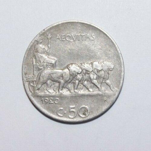 1920, 50 Centesimi Italy a Very High Value Coin