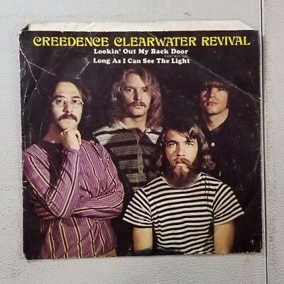 CREEDENCE CLEARWATER REVIVAL LOOKING OUT MY BACK DOOR 45 RECORD SLEEVE ONLY (Creedence Clearwater Revival Looking Out My Back Door)