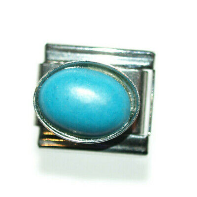 Cat Eye Blau - Charm Italian Charms fits Nomination  classic size bracelet