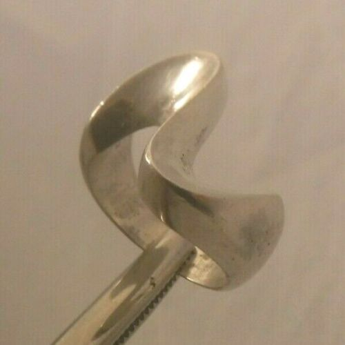 MCM MID CENTURY MODERN Sterling Silver Modernist Sculptural Ring Size 7 Mexico