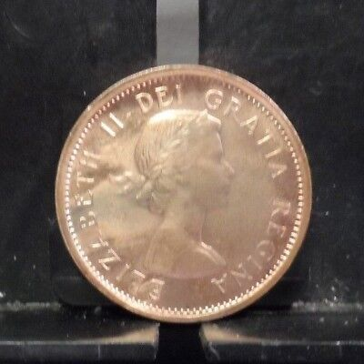 CANADA CANADIAN KM49 1964 UNC-UNCIRCULATED MINT OLD VINTAGE CENT COIN